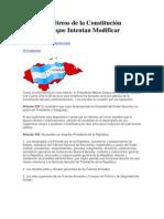 Artículos Pétreos de la Constitución Hondureña que Intentan Modificar