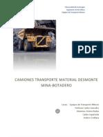 Informe Equipos de Transporte