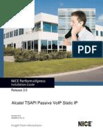 Alcatel TSAPI Passive VoIP Static IP Installation Guide - NPX - 3.0