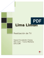 Analisis Del Programa Lima Limon