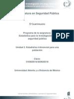 Unidad 2. Estadistica Inferencial Para Una Poblacion Vfff
