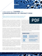 The Costs, Causes and Consequences of Privacy Risk