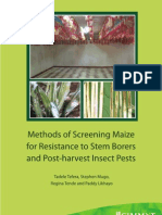 Methods of screening maize for resistance to stem borers and post-harvest insect pests