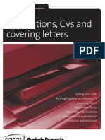 Applications CVs & Covering Letters