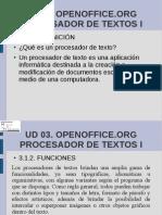 Interfaz de OpenOffice.org Writer y mecanografía