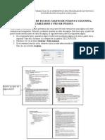 Saltos de página y columna encabezados y pies de página en OpenOffice.org Writer
