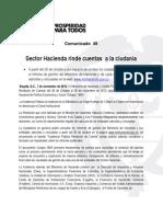 Sector Hacienda rinde cuentas a la ciudadanía