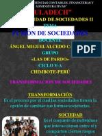 TRANSFORMACIÓN DE SOCIEDADES-DIAPOSITIVAS