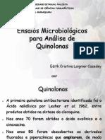 Ensaios Micro Quinolonas
