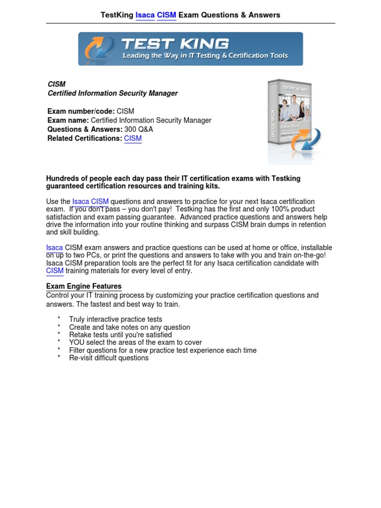 Testkingcism information security authentication 1betcityfo Choice Image
