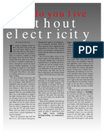 Living Without Electric