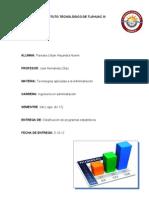 Clasificación de programas estadísticos