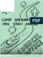 1992 Staff Yearbook, Camp Shenandoah, B.S.A. near Stauton, Virginia.