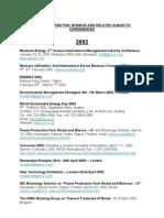 Conferences 2001