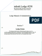 Administration Manual Shenandoah Lodge #258, Order of the Arrow