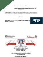 Plan de Desarrollo 2012 2015 La Renovacion