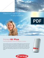 Fronius IG Plus Spec Sheet