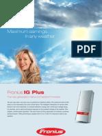 Fronius IG Plus Spec Sheet