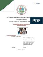 Organización del aprendizaje proyecto
