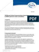 Tetra critical communications radio spectrum policy