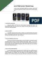 Tips Agar Blackberry Tidak Lemot