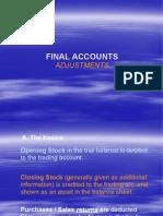 Final Accounts Adjustments Students