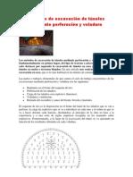 Métodos de excavación de túneles mediante perforación y voladura