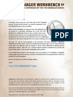 FIFA MANAGER Workbench V1 1 pdf   Text File   Icon (Computing)