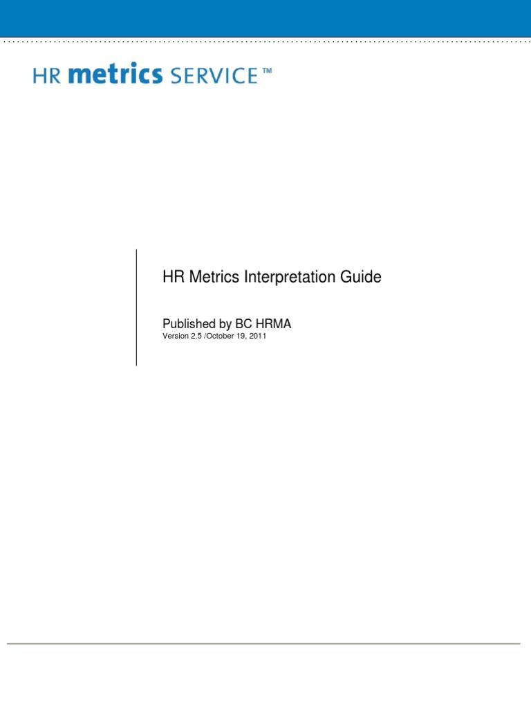 BC HRMA   HR Metrics Interpretation Guide | Turnover (Employment) |  Employee Retention