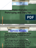 System Analysis Prototyping and Iteration