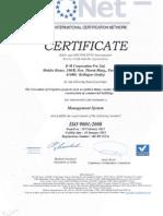 DMC ISO Certificate 9001-2008