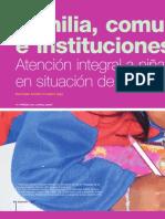 Familia, Comunidad e Instituciones. Atención Integral a Niñas y Niños en Situación de Discapacidad.