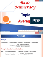 Basic Numeracy Average