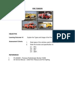 BAF M2 14 Fire Tenders pdf | Fire Engine | Public Safety