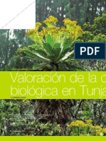 Valoración de la conservación biológica en Tunja, Boyacá