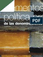 Elementos para una política protectora de las denominaciones de origen en Colombia
