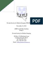 ASRT Leadership Academy Nevada Society for Medical Imaging Strategic Plan