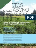 Efectos del abono orgánico mineral sobre la población microbiana de un haplustalf vértico