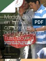 Medios de vida en familias campesinas del municipio de Tuta, Boyacá