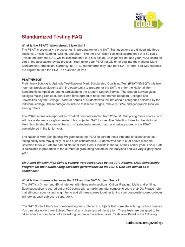 sat act psat ap ib standardized testing faq psat nmsqt sat