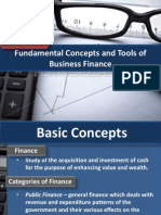 Fundamental Concepts and Tools of Business Finance