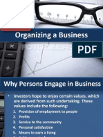 Organizing a Business