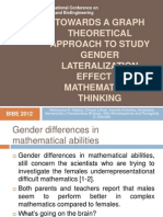 Towards a Graph Theoretical Approach to Study Gender
