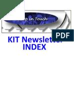 KIT Newsletter - Index