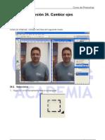 Cambiar ojos de cerrados a abiertos tutorial Photoshop Academia Usero