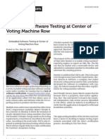 Embedded Software Testing at Center of Voting Machine Row