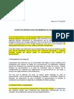 206 charte déontologie gouvernement 17 mai 2012