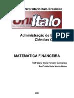 APOSTILA DE MATEMÁTICA FINANCEIRA UNIÍTALO 2011-PROFa LIANA GUIMARÃES