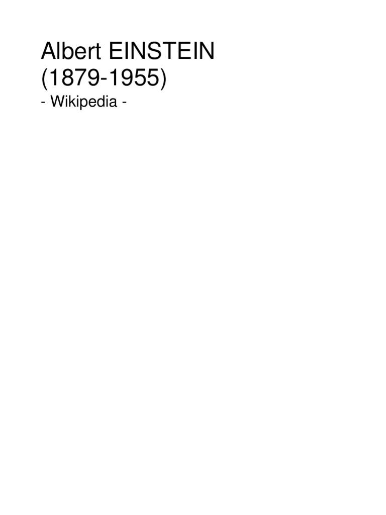 Albert EINSTEIN(1879 1955) Esp - Wikipedia 233 pág.