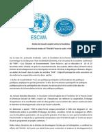 """Atelier de travail conjoint entre la Fondation de la Pensée Arabe et l'""""ESCWA"""" dans le cadre « FIKR11»"""